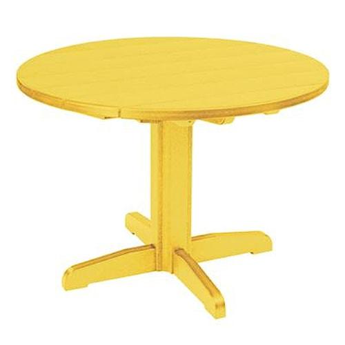 C.R. Plastic Products Adirondack - Yellow Dining Pedestal