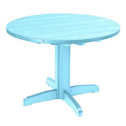 C.R. Plastic Products Adirondack - Aqua Dining Pedestal