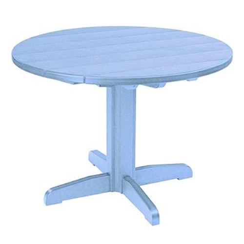 C.R. Plastic Products Adirondack - Sky Blue Dining Pedestal