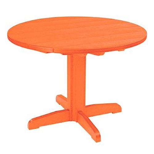 C.R. Plastic Products Adirondack - Orange Dining Pedestal