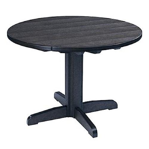 C.R. Plastic Products Adirondack - Black Dining Pedestal
