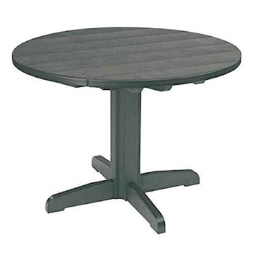 C.R. Plastic Products Adirondack - Slate Dining Pedestal