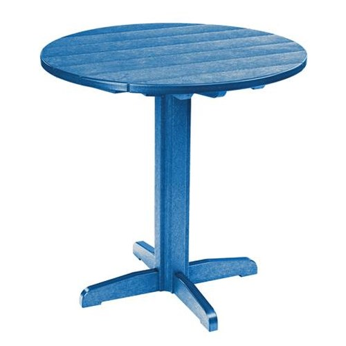 C.R. Plastic Products Adirondack - Blue Pub Pedestal Table