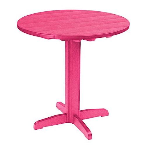 C.R. Plastic Products Adirondack - Fuschia Pub Pedestal Table