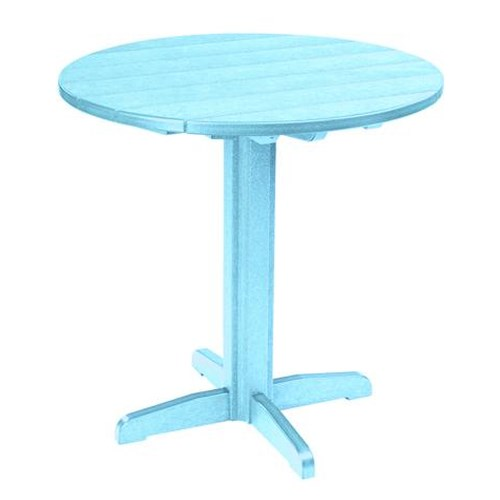C.R. Plastic Products Adirondack - Aqua Pub Pedestal Table