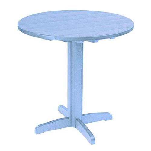 C.R. Plastic Products Adirondack - Sky Blue Pub Pedestal Table