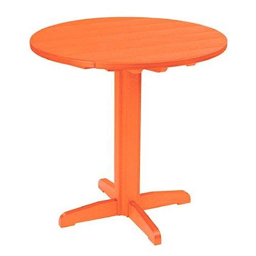 C.R. Plastic Products Adirondack - Orange Pub Pedestal Table