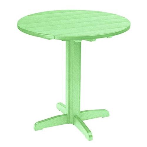 C.R. Plastic Products Adirondack - Lime Pub Pedestal Table