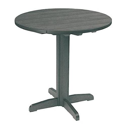 C.R. Plastic Products Adirondack - Slate Pub Pedestal Table