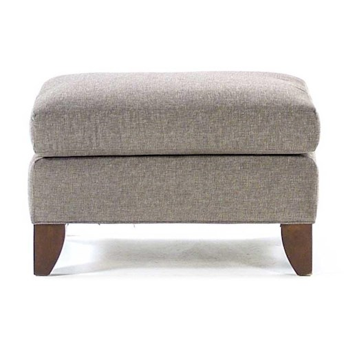 Cozy Life Selia Ottoman with Exposed Wood Legs