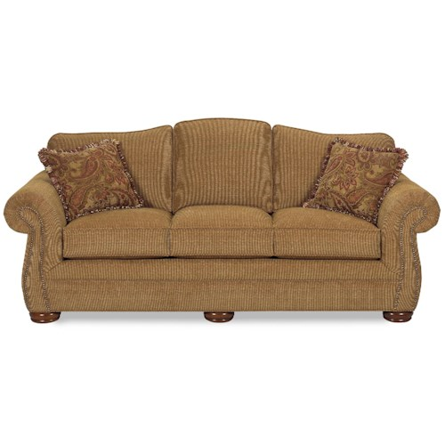 Craftmaster 2675 Camelback Sofa with Regular Brass Nails