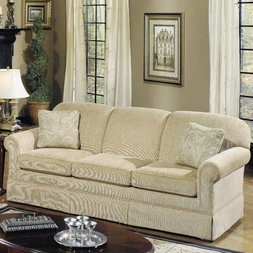 Craftmaster 4200 Traditional Stationary Sleeper Sofa