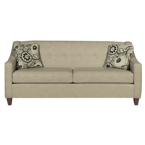 Cozy Life 706950 Contemporary Queen Memory Foam Sleeper with Button Detail