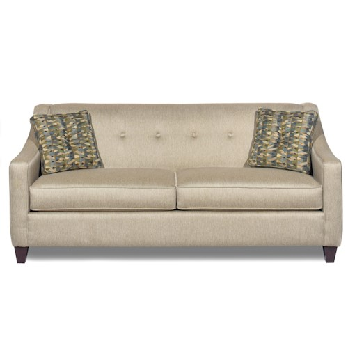 Craftmaster 706950 Contemporary Sofa with Button Detail