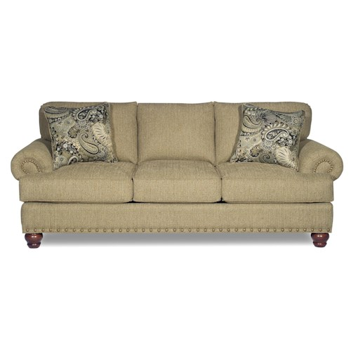 Cozy Life 726200 Traditional Sofa with Rolled Arms and Nailhead Trim