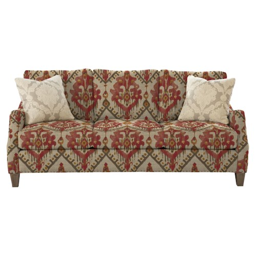 Cozy Life 729300 Contemporary Sofa with Serpentine Curved Track Arms and Vintage Tack Nailheads