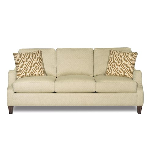 Craftmaster 729400 Transitional Sofa with Sinuously Curved Track Arms