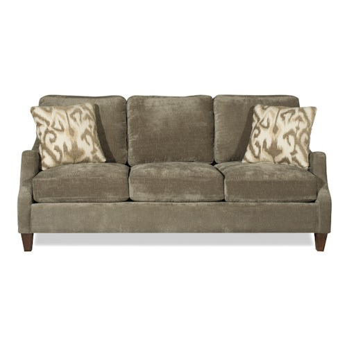 Craftmaster 729550 Contemporary Sofa with Serpentine Curved Track Arms and Nailhead Trim