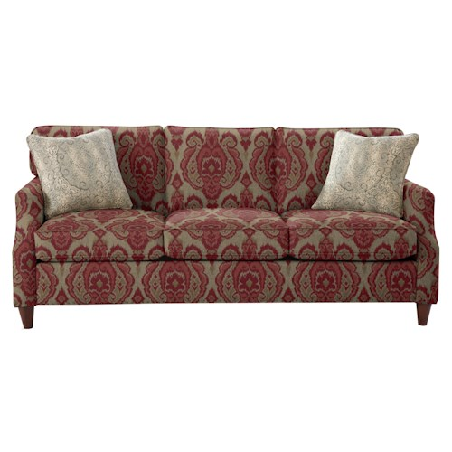 Cozy Life 736300 Transitional Sofa with Flare Tapered Arms and Vintage Tack Nailheads