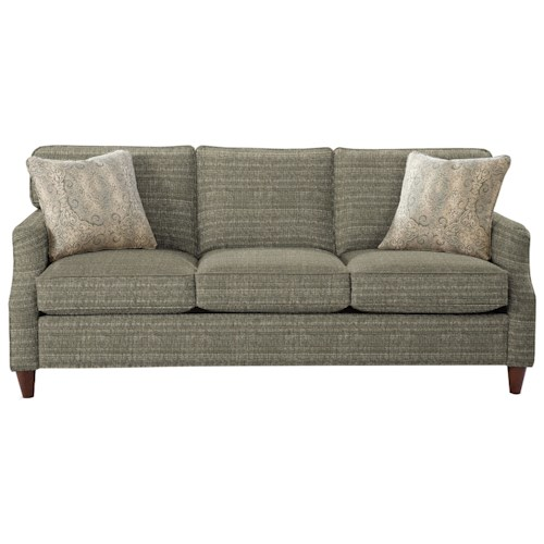 Cozy Life 736400 Transitional Sofa with Flair Tapered Arms