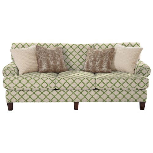 Cozy Life 740600 Transitional Sofa with Rolled Panel Arms