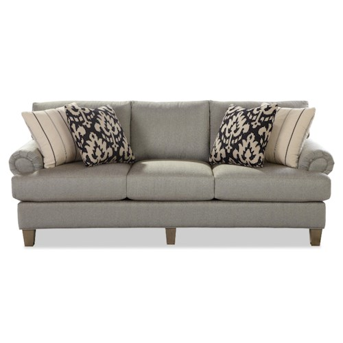 Craftmaster 740600 Transitional Sofa with Rolled Panel Arms
