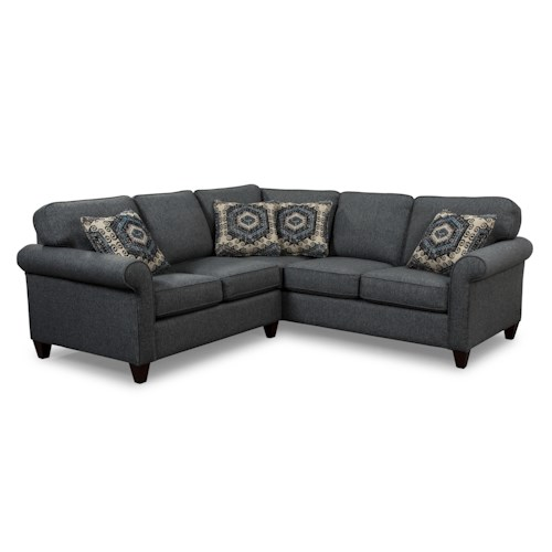 Craftmaster 742100 Transitional Two Piece Sectional Sofa with RAF Corner Sofa