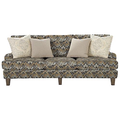 Cozy Life 742900 Transitional English-Arm Sofa with Vintage Tack Trim