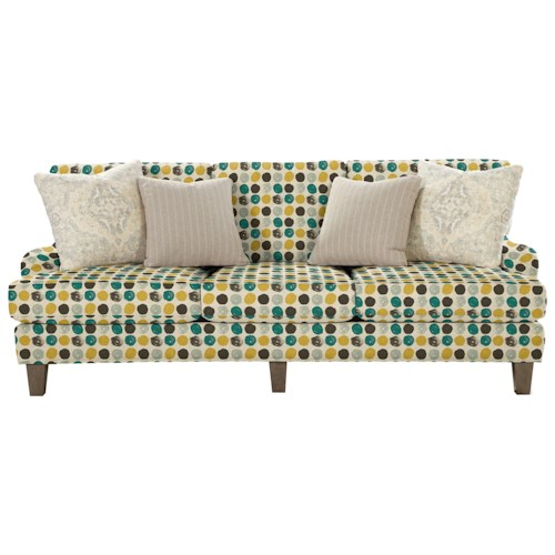 Cozy Life 743000 Transitional Sofa with English Arms