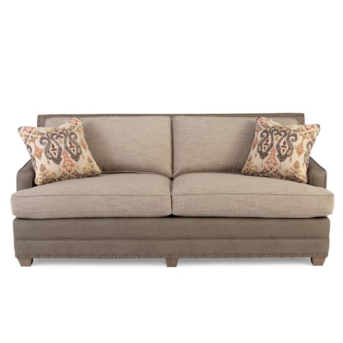 Craftmaster 745800 Contemporary Sofa with Nailhead Trim