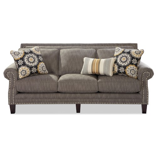 Cozy Life 747 Transitional Sofa with Pewter Nailheads
