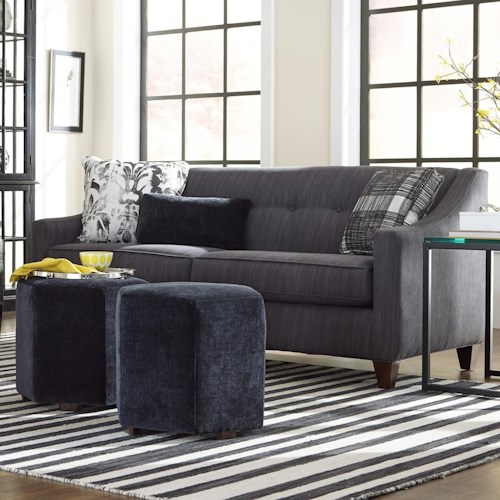 Cozy Life 748700 Contemporary Sleeper Sofa with Button Tufting and Memory Foam Mattress