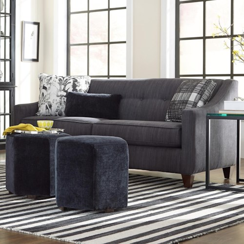 Cozy Life 748700 Contemporary Sofa with Sloped Arms and Button Tufting