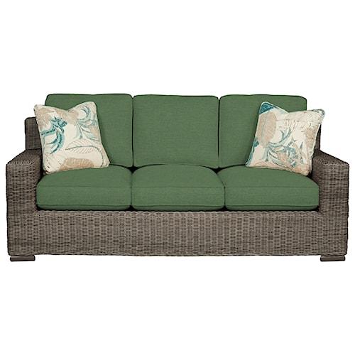 Cozy Life 750700 Coastal Wicker-Framed Sofa Sleeper with Air Dream Mattress