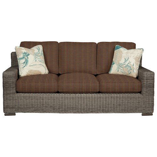 Cozy Life 750700 Coastal Wicker-Framed Sofa Sleeper with Air Dream Mattress