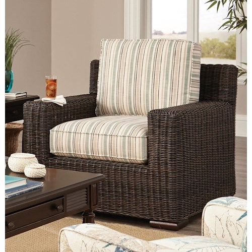 Craftmaster 750800 Coastal Wicker-Framed Chair