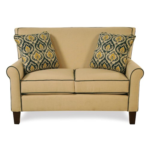 Cozy Life Mazie Tight Back Loveseat w/ Toss Pillows