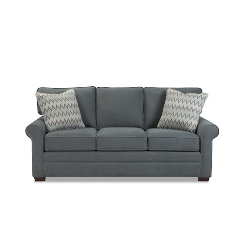Craftmaster 752350 Transitional Sofa with Rolled Arms and Loose Back Cushions