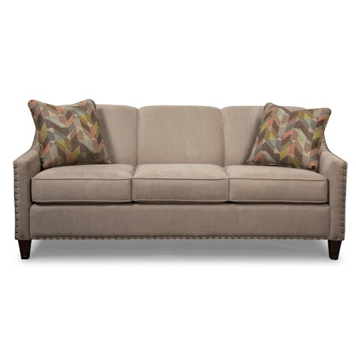 Cozy Life 756300-756400 Transitional Sofa with Light Brass Nails