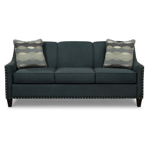 Craftmaster 756300-756400 Transitional Sofa with Pewter Nails