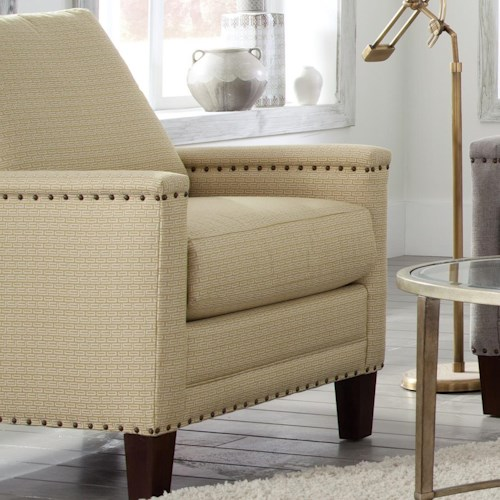 Craftmaster Elsa Transitional Chair with Brass Nailheads