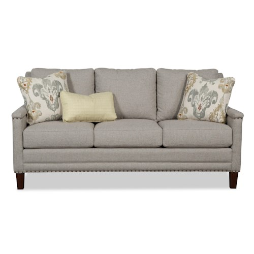 Cozy Life 759700-759800 Transitional Sofa with Brass Nailheads