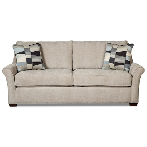 Craftmaster 768600 Transitional Queen Sleeper Sofa with Memory Foam Mattress