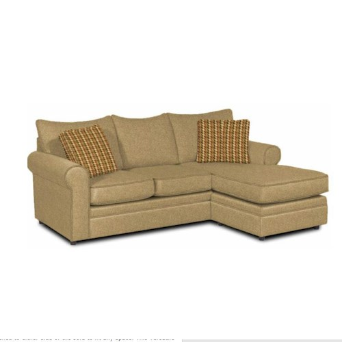Craftmaster Abbey Casual Sofa with Chaise and Sock Arms
