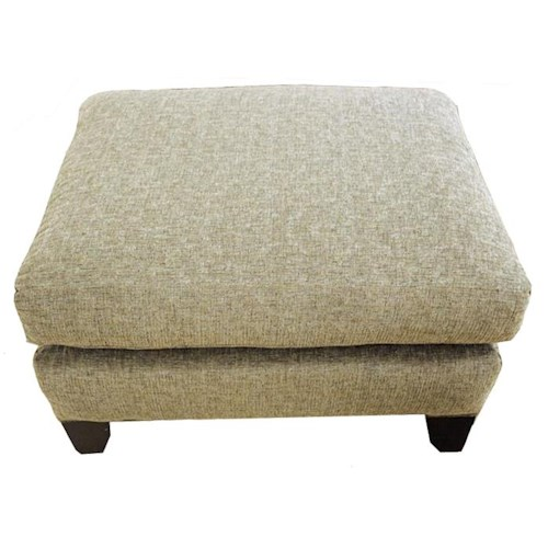 Craftmaster 7844 Ottoman with Exposed Wood Legs