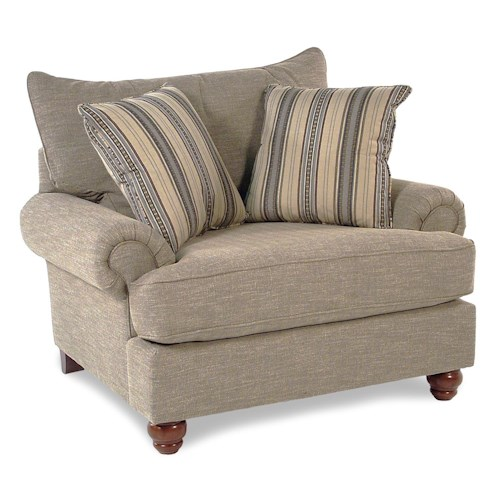 Cozy Life Westgate Traditional Chair with Exposed Wood Feet