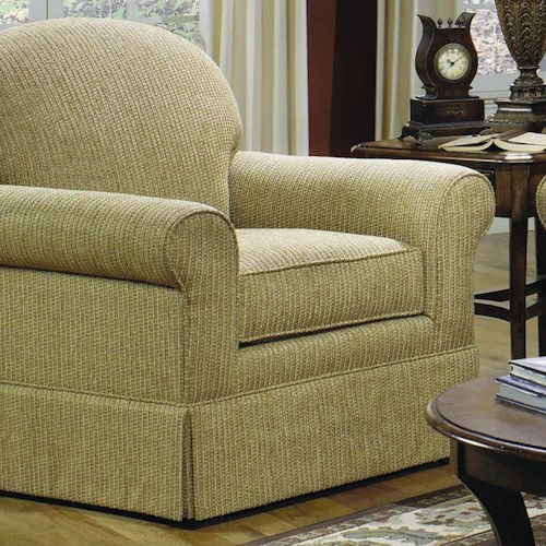 Craftmaster 918250 Casual Upholstered Chair with Arched Back and Skirt