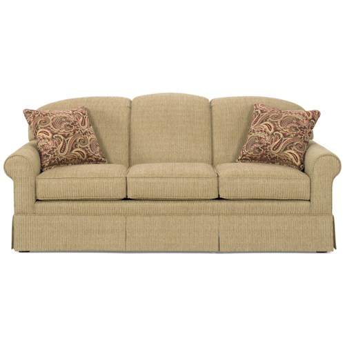 Cozy Life 918250 Casual Sofa with Tight Arched Back and Skirt