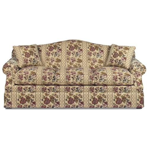 Cozy Life 928350 Traditional Sofa with Camel Back and Skirt