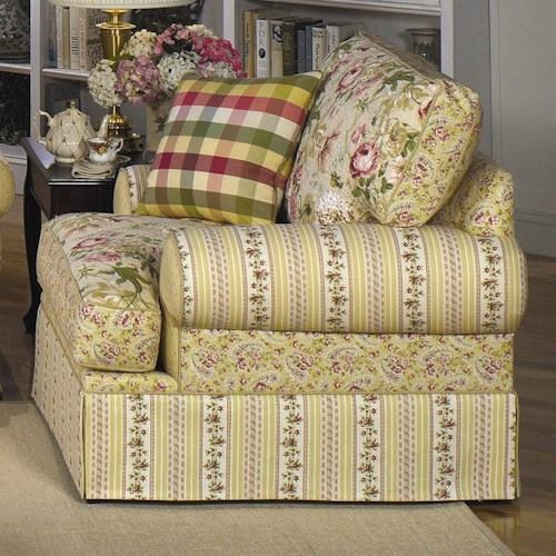 Cozy Life 9535 Skirted Chair with Flared Arms